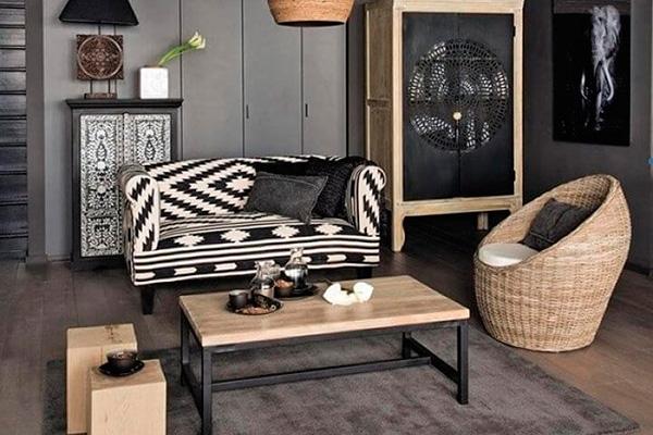 decoración con negro